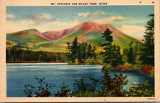Postcard  Mt Katahdin And Daicey Pond Maine