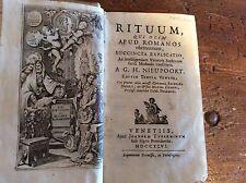 RITUUM QUI OLIM APUD ROMANOS OBTINUERUNT - A G. H. NIEUPOORT - 1746