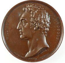 1831 Great Britain WILLIAM ROSCOE Poet Historian Philanthropist bronze 47mm