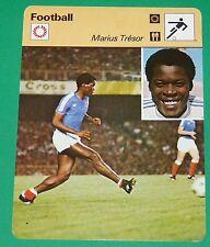 FOOTBALL MARIUS TRESOR 1977 FRANCE AC AJACCIO OLYMPIQUE MARSEILLE OM BORDEAUX