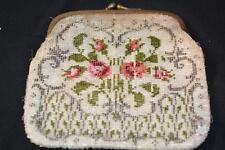 Antique Vintage Seed Evening Dance PURSE Theatre Victorian Rose Brass Costume