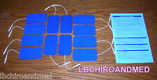 12 NEW Replacement Electrode Pads for Tens 7000/3000 Units 2 x 3.5 in Blue Cloth