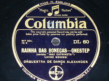 PORTUGAL 78 rpm RECORD Columbia ORQUESTRA DE DANÇA ALEXANDER Mexilhão