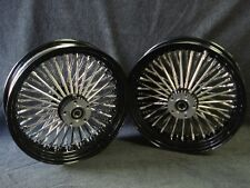 "16X3.5"" DNA BLACK  MAMMOTH 52 SPOKE WHEEL SET FOR HARLEY SOFTAIL & TOURING"
