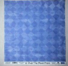 Over the Moon Press Scrapbook Paper 12x12 Blue Lg Diamonds  EKSuccess 2 sheets