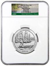 2018 Voyageurs 5 oz. Silver ATB America Beautiful Coin NGC MS69 DPL ER SKU49878