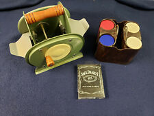 Poker Set Jack Daniels Cards, Clay Poker Chips with Tray, and Card Shuffler