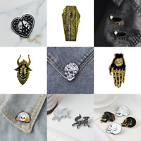 Pin Brooches Skull Backpack Badges Hard enamel lapel Hat Bag Punk Goth Jeans