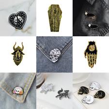 Pin Brooches Skull Backpack Badges Hard enamel lapel Hat Bag Punk Goth Jeans