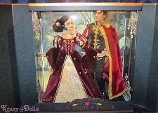 Disney Limited Edition 650 Designer Snow White And Prince Platinum Doll Set NEW!