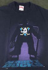 True Vintage 90s Walt Disney Anaheim Mighty Ducks NHL Hockey Nutmeg T-Shirt L