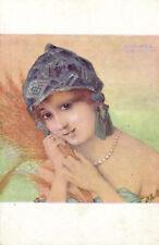 KIRCHNER PC, ARTIST SIGNED, LA GLANEUSE, ART NOUVEAU, P4-1 (b2317)
