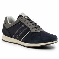 Geox U Avery C U02H5C 02214 C4067 Dk Avio Blu Suede + Mesh Sneakers Uomo