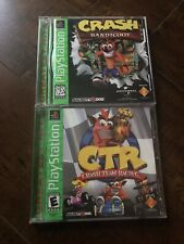Crash Bandicoot Team Racing PlayStation 1 Game Lot PS1 Complete greatest hits