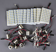 10x RV Trailer 48SMD White High Power LED Light Panel+1156 BA15S+Festoon Adapter