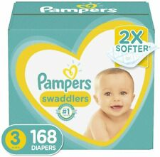 Pampers Swaddlers Disposable Baby Diapers Size 3, 168  Count ONE MONTH SUPPLY AM