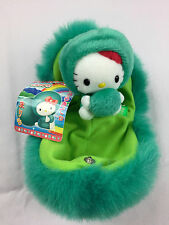 NWT Rare Sanrio Hello Kitty 2003 Marimo Green Moss Ball Plush Toy Hokkaido Japan