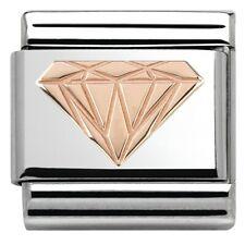 New Genuine Nomination Classic 9kt Rose Gold DIAMOND CHARM.......