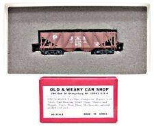 Old & Weary Car Shop HO Brass Pro Painted D&H 2 Bay Hopper Train Car OWCS #1001
