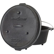 Camp Chef Pre-Seasoned 12-Quart Cast Iron Dutch Oven Slow Cooking Outdoor New