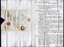 ITALIA - LOMBARDO VENETO - 1865 - Raccomandata - cartella rossa -  Lettera Palma