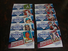 2011 Topps Baseball---Diamond Giveaway---Series-1---Complete Set 1-10---NrMt