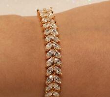 "18k Yellow Gold Diamond finsih 5 tcw Tennis Bracelet-7.5"""