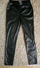 Sosandar Faux Leather Legging Uk 10 Black Brand New