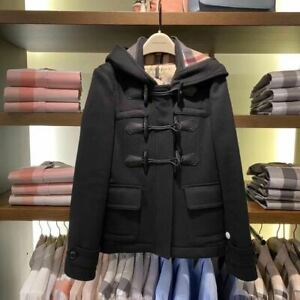 Authentic Burberry Short Blackwell Hood Duffle Coat