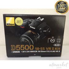 Nikon Digital SLR Camera D5500 18-55 VRII Lens Kit Black D5500LK18-55BK JAPAN
