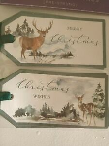 10 luxury back to nature design christmas gift tags deep green