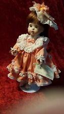 "Porcelain Doll ""Ashley"" by Sandy's Ceramics 15"" full porcelain body"