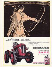 PUBBLICITA' 1960 TRATTORI SAME TRATTRICE TRACTOR CASSANI TREVIGLIO BERGAMO DIANA