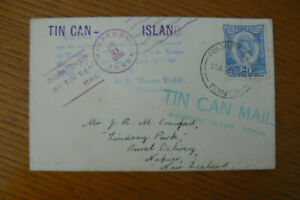 1936 TONGAN TIN CAN MAIL NIUAFOOU - NAPIER , NZ