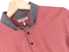 RP1926 TED BAKER POLO SHIRT TOP SPOTTED ORIGINAL VINTAGE PREMIUM size 2