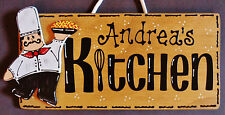 Personalize FAT CHEF KITCHEN SIGN Wall Name Plaque Cucina Bistro Italian Decor
