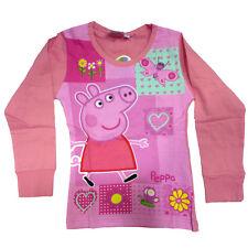 PEPPA PIG jersey rose manches longues coton taille 6 ans de fille