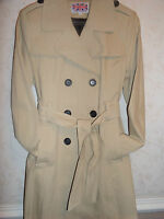 Women's New Double Breasted Trench Mac Coat Ladies Fashion Belted Jacket