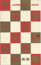 JAPAN AIR LINES,OCT. 17,1957,WOMEN'S TRAFFIC CLUB OF SAN FRANCISCO,MENU,PROGRAM