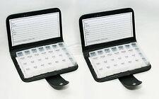 2X 7 Day Pill Wallet Box Medicine Tablet Holder Organizer Storage Travel Remindr