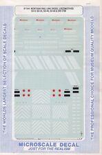 87-544 HO Scale Montana Rail Diesel Locomotives SD-9, SD-35, SD-40, SD-60, & SW-