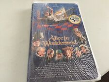 Alice in Wonderland, Sealed VHS, Hallmark Entertainment Clam Shell Case '99