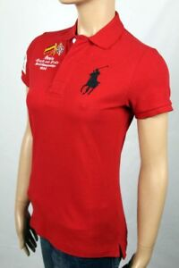 Ralph Lauren Red Spain Track Field Skinny POLO Big Pony NWT