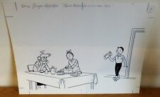 Superbe dessin original encre de chine de Paul GEERS Bob et Bobette