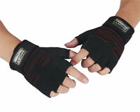 Weight Lifting Gloves Gym Training Fitness Wrist Wrap Workout Exercise Sports