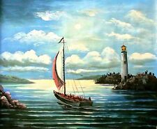 Tom L.-Moonlight Serenade-Orig Oil Painting on Canvas, Hand Signed by the Artist