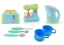 Kitchen Appliances Toy For Kids Mixer Toaster Kettle Cups & Utensils Set New