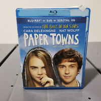 PAPER TOWNS Blu-Ray BluRay DVD 2 Disc Combo FREE USA SHIPPING Nat Wolff,