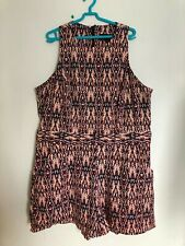 GORGEOUS!! Autumnal Coloured Aztech Pattern Playsuit - By River Island - Size 18