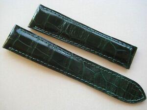 GENUINE CARTIER WATCH STRAP BAND EMERALD GREEN CROCODILE LEATHER 18 mm x 16 mm
